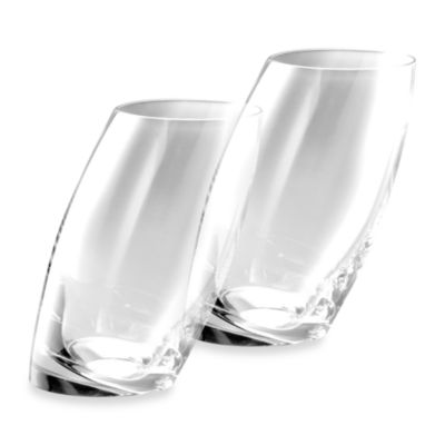 Nambe Tilt Crystal Highball Glasses (Set of 2)