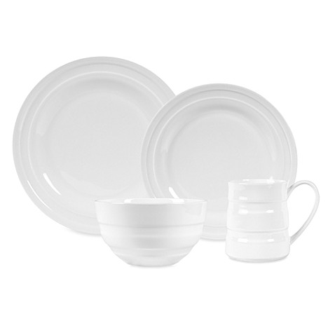 Fitz and Floyd® Nevaeh White Double Banded Dinnerware Collection
