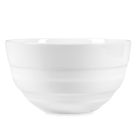 Fitz and Floyd® Nevaeh 6-Inch White Double Banded Bowl