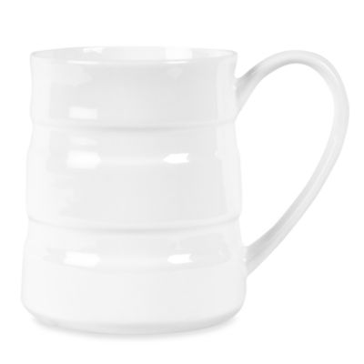 Fitz and Floyd® Nevaeh White Double Banded 16-Ounce Mug