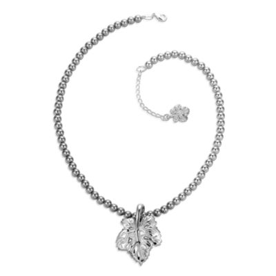 Arthur Court Great Outdoors Leaf Pendant Ball Chain Necklace