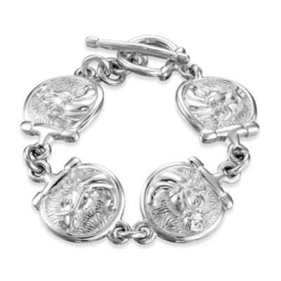 Arthur Court 7 1/4-Inch Saints, Ropes & Cowboys Horse Bracelet