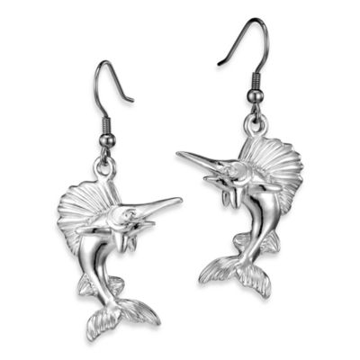 Arthur Court Sea and Lake Life Swordfish Earrings