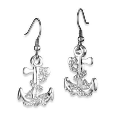 Arthur Court Sea and Lake Life Anchor Earrings