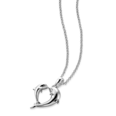 Arthur Court Sea & Lake Life Dolphin Necklace
