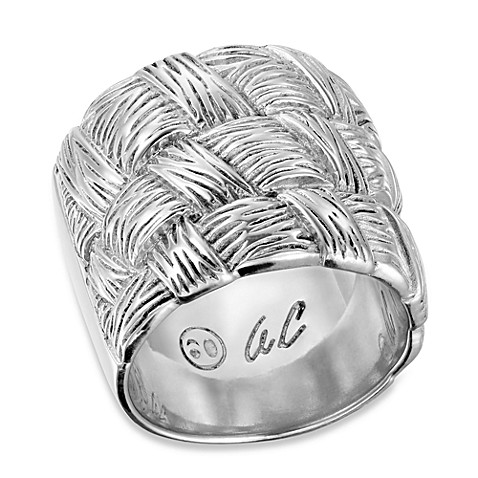 Arthur Court Basket & Weaves Matte Finish Ring Collection