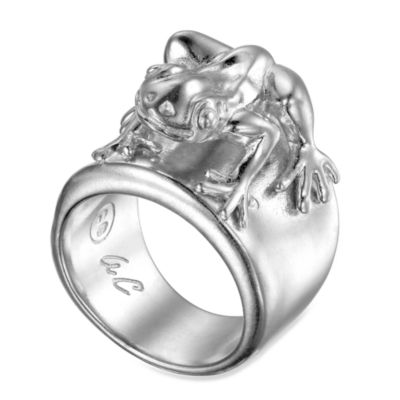 Arthur Court Lake & Sealife Size 5 Frog Ring