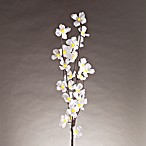 39-Inch Battery Operated Brown Wrapped Poppy Lighted Branches
