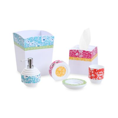 Kelcie Floral Bath Waste Basket