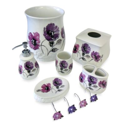 Floral Waltz Bath Toothbrush Holder