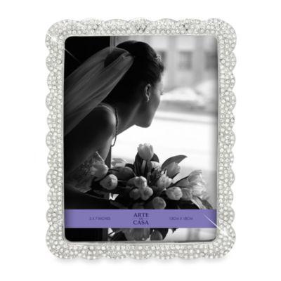 Arte de Casa Argento Arte De Casa Love Knot 8-Inch x 10-Inch Frame in Silver