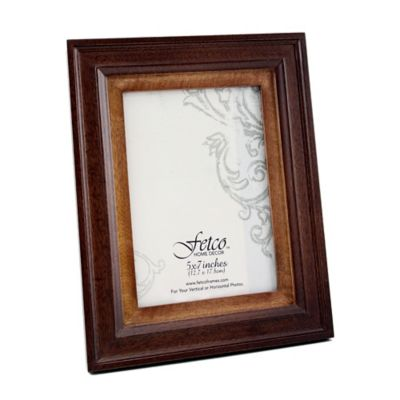 Fetco Home Decor™ Loren Two-Tone Espresso 5-Inch x 7-Inch Photo Frame