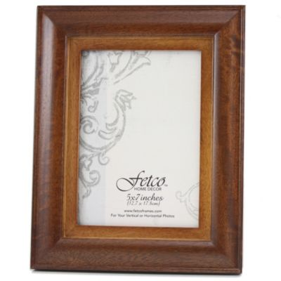 Fetco Home Decor™ Riverside Two-Tone 5-Inch x 7-Inch Photo Frame in Walnut