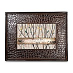 Through The Woods Brown Faux-Skin Frame