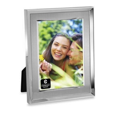 Cupecoy Design Brushed Metal And Silver 4-Inch x 6-Inch Photo Frame