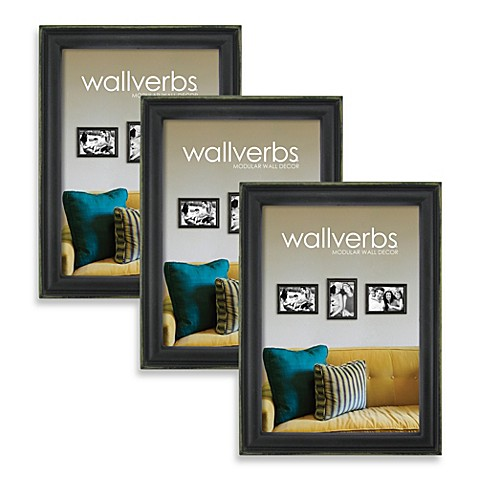 Wall Verbs Collection 5-Inch x 7-Inch 3-Pack Antique Black/Bronze
