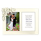 Orchid and Lily Ceramic 5-Inch x 7-Inch Double Wedding Frame