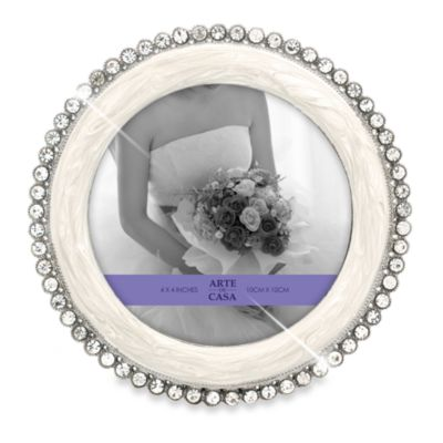 Arte de Casa Argento Memories Frame with Crystals in Ivory