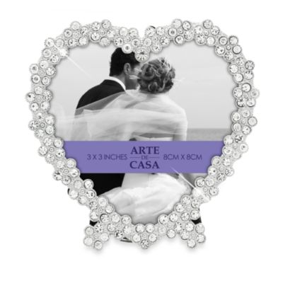 Love Always Frame with Crystals in Silver