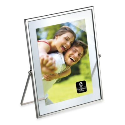 Cupecoy Design Metal Silverplated 4-Inch x 6-Inch Floating Frame