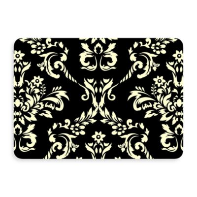 Bungalow Flooring New Wave Damask Doormat in Onyx