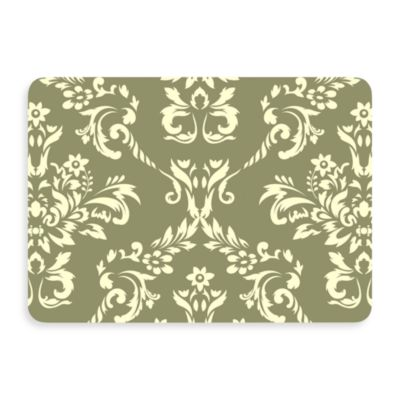 Bungalow Flooring New Wave Damask Doormat in Sage