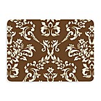 Bungalow Flooring New Wave Damask Doormat in Walnut