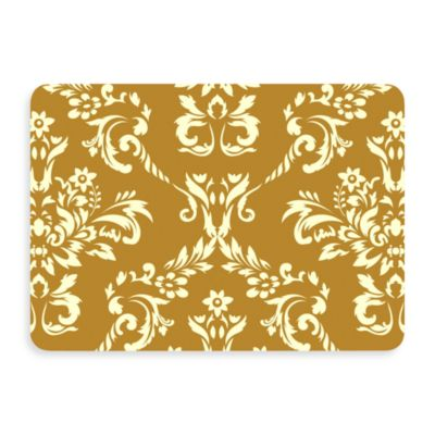 Bungalow Flooring New Wave Damask Doormat in Harvest Gold