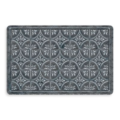 Bungalow Flooring New Wave 18-Inch x 27-Inch Tin Tile Pewter Door Mat