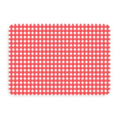 Bungalow Flooring New Wave 18-Inch x 27-Inch Red Gingham Door Mat