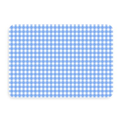 Bungalow Flooring New Wave 18-Inch x 27-Inch Blue Gingham Door Mat