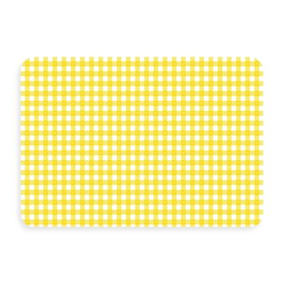 Bungalow Flooring New Wave 18-Inch x 27-Inch Yellow Gingham Door Mat