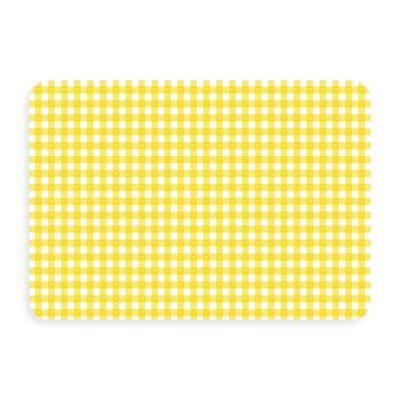 Bungalow Flooring New Wave 18-Inch x 27-Inch Yellow Gingham Door Mat