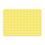 Bungalow Flooring New Wave Yellow Gingham Doormat