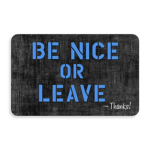 Bungalow Flooring New Wave 18-Inch x 27-Inch Be Nice or Leave Door Mat