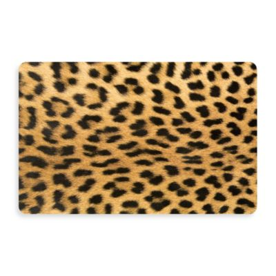 Bungalow Flooring New Wave 18-Inch x 27-Inch Leopard Door Mat
