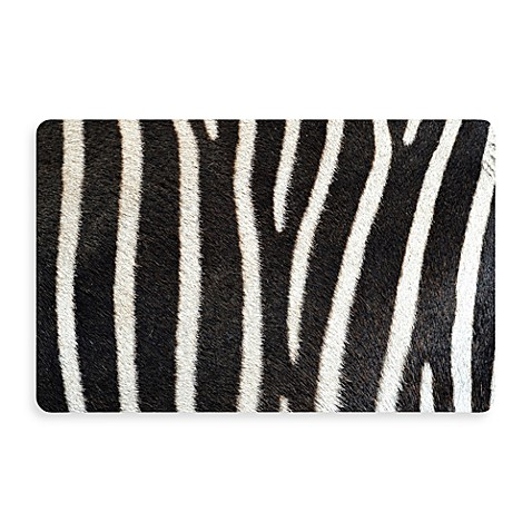 Bungalow Flooring New Wave 18-Inch x 27-Inch Zebra Door Mat