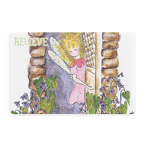 Bungalow Flooring New Wave 18-Inch x 27-Inch Fairy Rose Door Mat