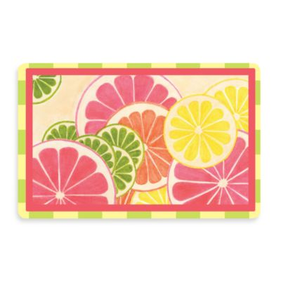 Bungalow Flooring New Wave 18-Inch x 27-Inch Fresh Citrus Door Mat