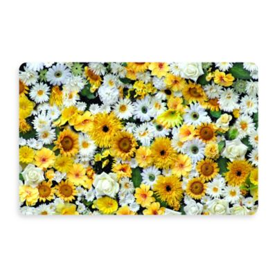 Bungalow Flooring New Wave 18-Inch x 27-Inch Garden Flowers Door Mat