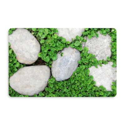 Bungalow Flooring New Wave 18-Inch x 27-Inch Path Stones Door Mat