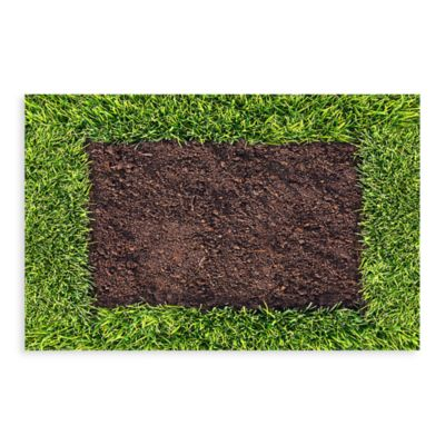Bungalow Flooring New Wave 18-Inch x 27-Inch Dirt and Turf Door Mat