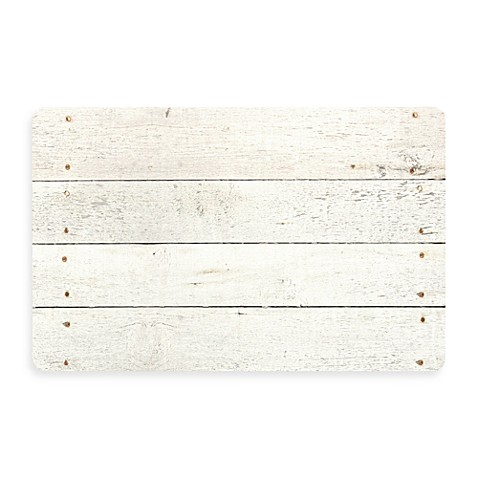 Bungalow Flooring New Wave 18-Inch x 27-Inch Whitewash Kitchen Rug