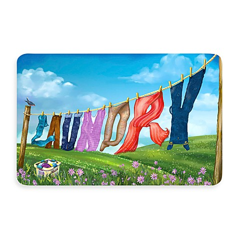Bungalow Flooring New Wave 18-Inch x 27-Inch Laundry Line Door Mat