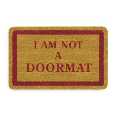 Bungalow Flooring New Wave 18-Inch x 27-Inch I Am Not A Door Mat