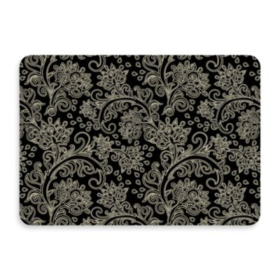 Bungalow Flooring New Wave Black Paisley Doormat