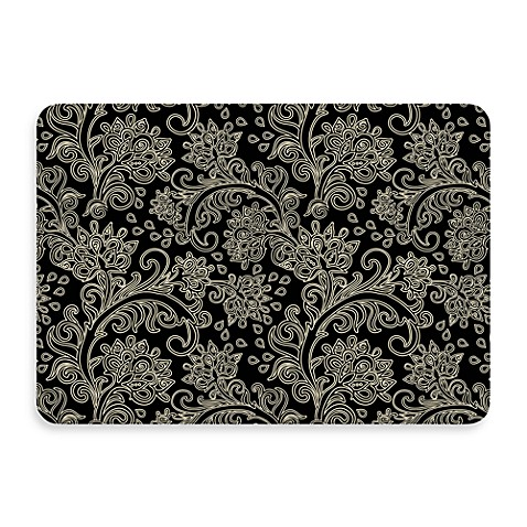 Bungalow Flooring New Wave 18-Inch x 27-Inch Black Paisley Door Mat