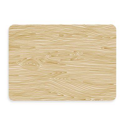 Bungalow Flooring New Wave 18-Inch x 27-Inch Handdrawn Wood Grain Door Mat