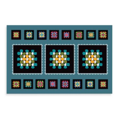 Bungalow Flooring New Wave Black Squares Kitchen Doormat