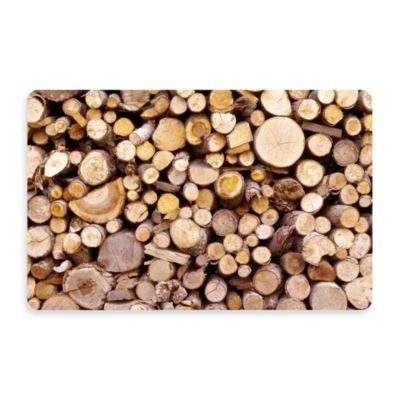 Bungalow Flooring New Wave 18-Inch x 27-Inch Stacked Logs Door Mat